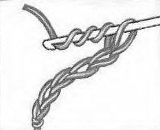Столбик с тремя накидами крючком