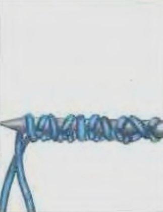 Итальянский набор петель вязание спицами