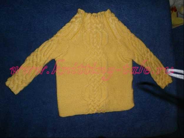 Вязаная кофта с рукавом реглан для девочки