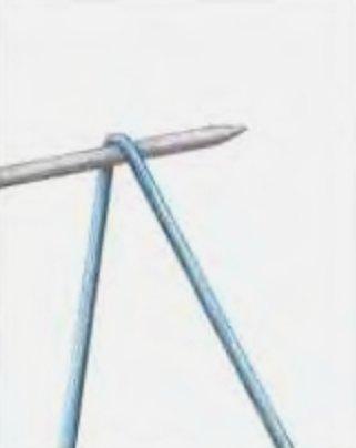 Итальянский набор петель. Вязание спицами для левшей (1х1)