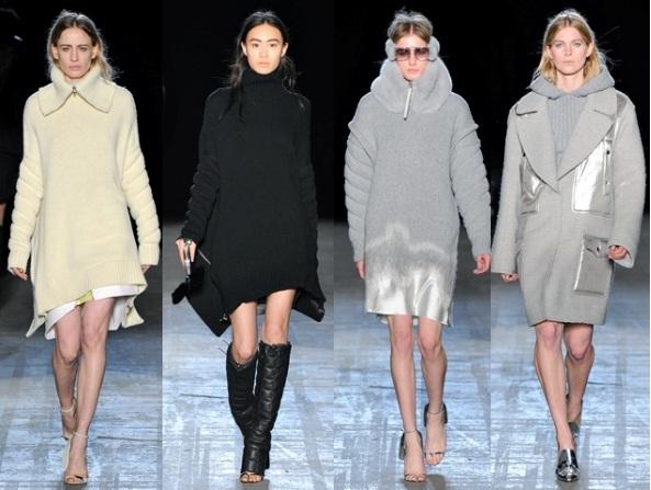 Модные вязаные платья 2017 Alexander Wang