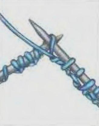 Итальянский набор петель первого ряда вязание на спицах