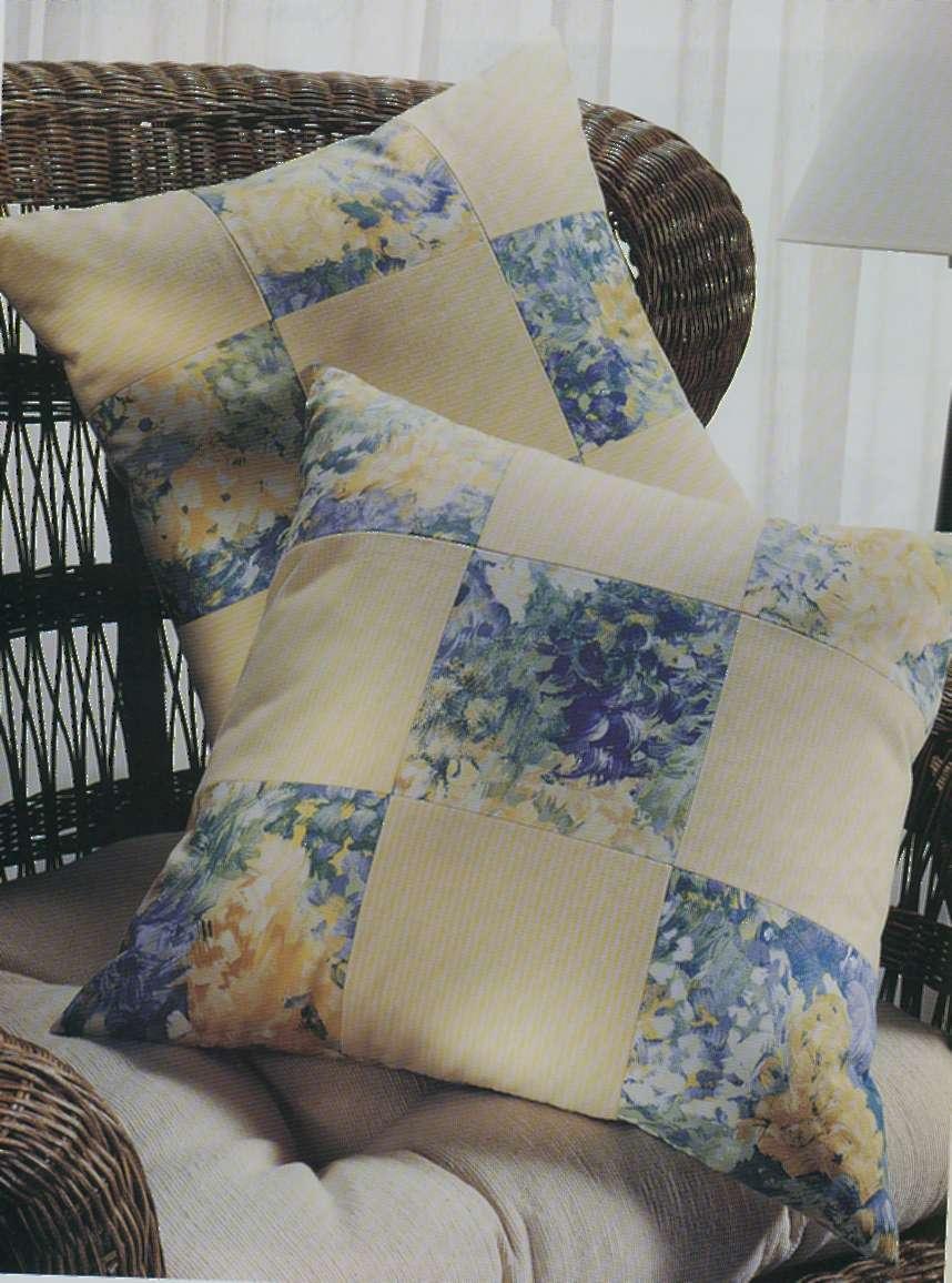 Урок по шитью декоративных диванных подушек с шахматным узором