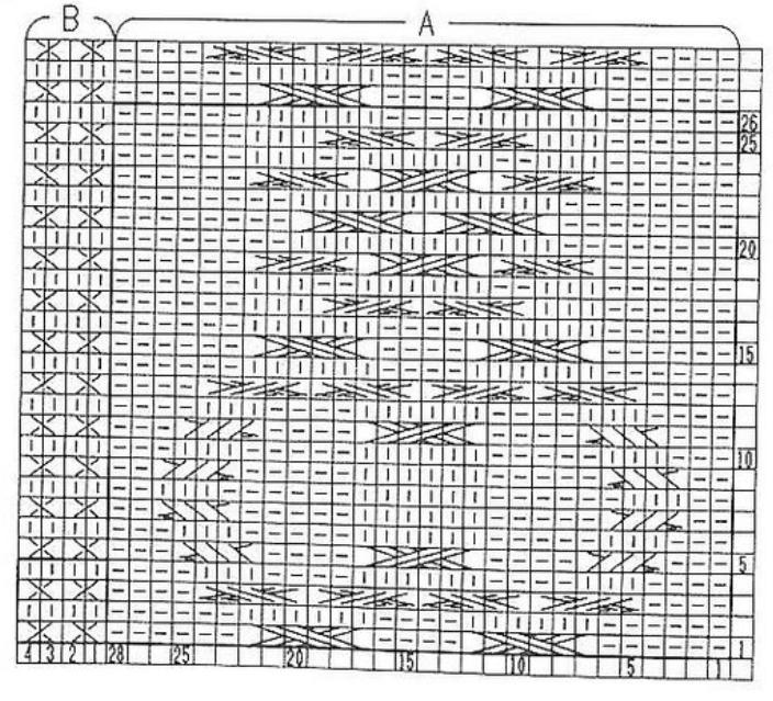 Описание: манишка спицами схема, схемы вязания.