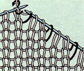 Вязаная спицами вытачка левой полочки