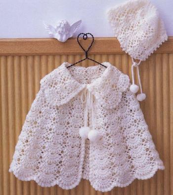 вязаное пончо для девочки вязаная сказка
