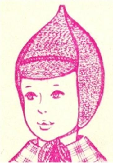 Вязаная шапочка-буденовка