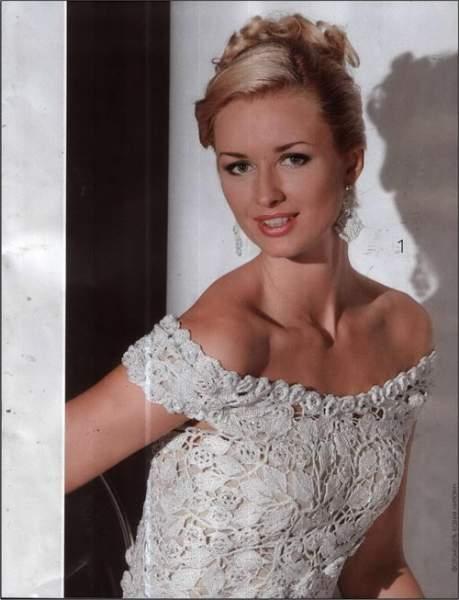 вязаные свадебные платья фото