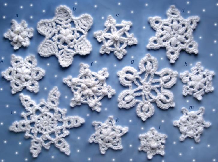 маленькие снежинки крючком схемы