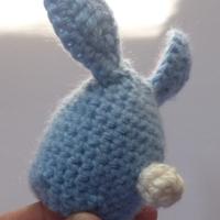 вязаный пасхальный кролик