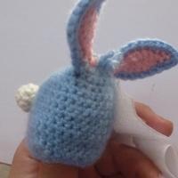 вязаный пасхальный кролик фото