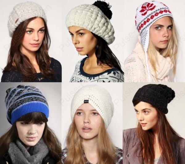 Модные вязаные шапки зимой 2015 - 2016