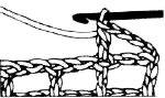 Вязание филейной сетки крючком. убавление ячеек справа