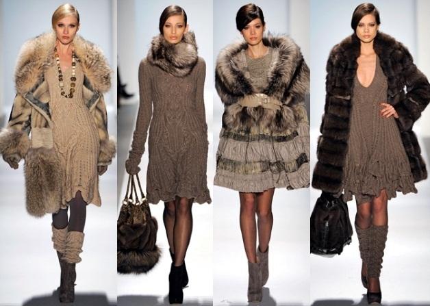Модные вязаные платья 2017 Dennis Basso