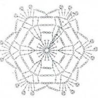 простые шестиугольные мотивы крючком