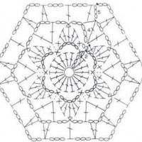 шестиугольники крючком схема