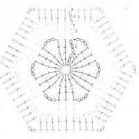 шестиугольники крючком