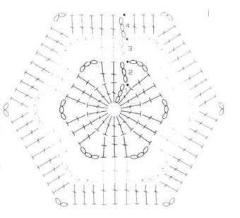 простые шестиугольные мотивы крючком, Салфетки крючком со схемами., Бабочки крючком схемы вязания