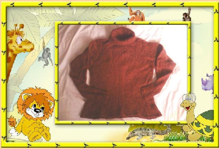 Вязаный пушистый пуловер
