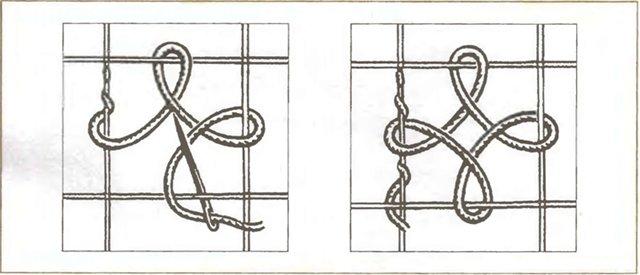 Ажурная  вышивка Горизонтальный ряд, выполненный воздушно-петельным швом