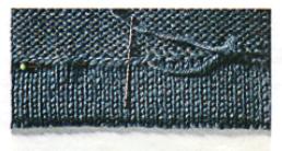 шов подгиба в вязаном изделии