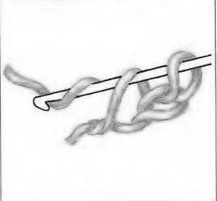 Двойная цепочка из воздушных петель. Шаг 6