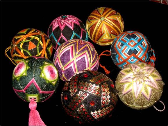Темари - японские вышитые шары