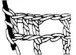 Вязание филейной сетки крючком. прибавление