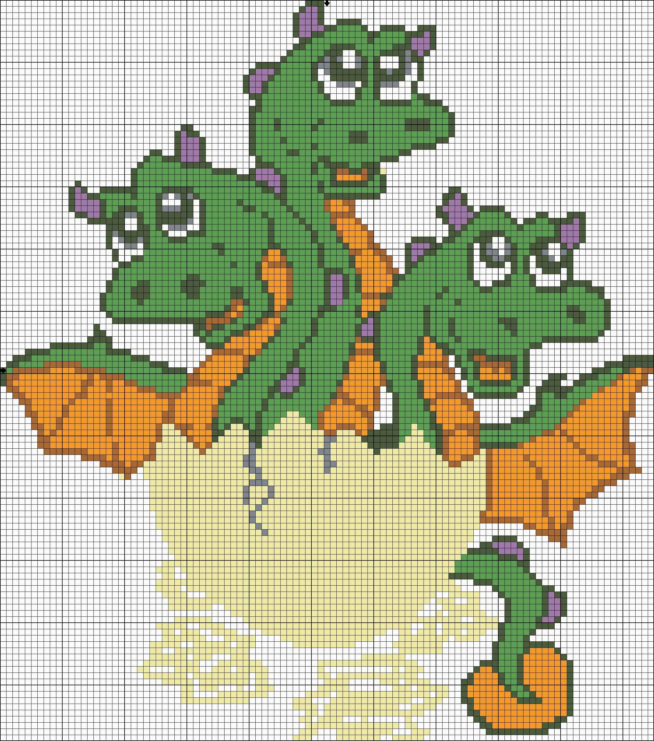 схема драконов крестиком