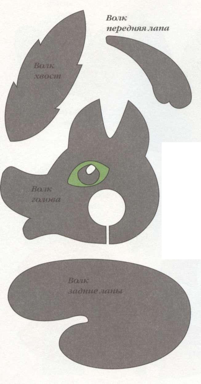 Как сделать из помпонов Волка шаблон