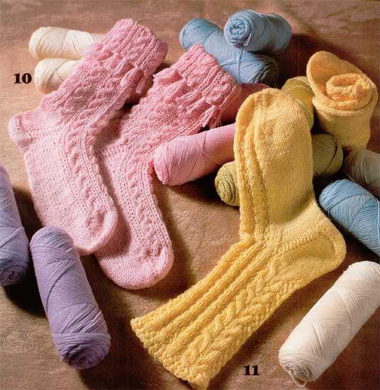 Вязание носков на четырех спицах