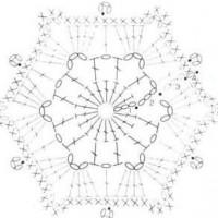вязаные шестиугольники схема