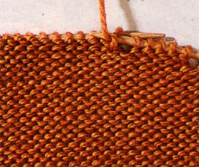 Укороченные ряды спицами изнанка