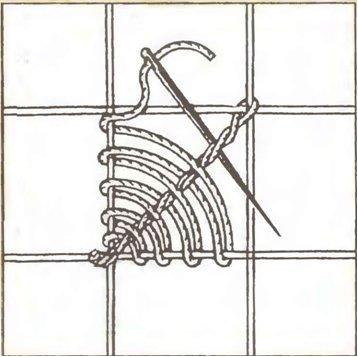 Ажурная, или строчевая вышивка Грибок