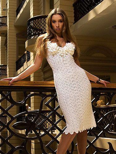 Вязаное крючком платье фото.