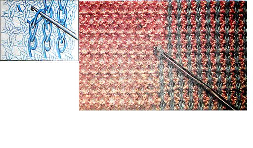 Имитация тканого полотна крючком