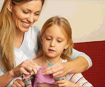как научить ребенка вязать