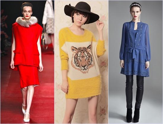 Модные вязаные туники 2014 все о моде